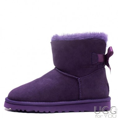 UGG Australia Mini Bailey Bow Purple
