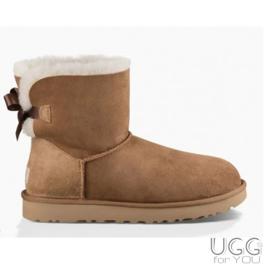 UGG Australia Mini Bailey Bow Chestnut