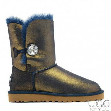 UGG Australia Bailey Button Blue Gold