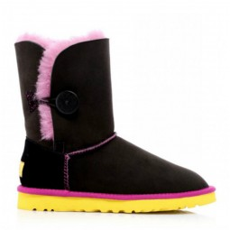 UGG Australia Bailey Button Noir Rose Jaune