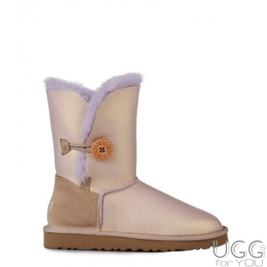 UGG Australia Bailey Button Metallic Amethyst