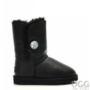 UGG Australia Bailey Button Metallic Bling Black