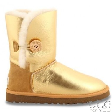 UGG Australia Bailey Button Metallic Gold