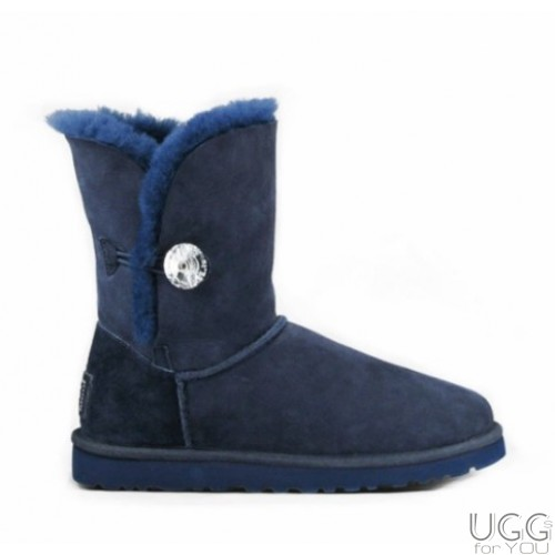 UGG Australia Bailey Button Bling Blue