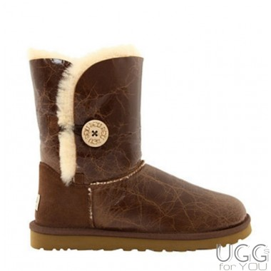 UGG Australia Bailey Button Krinkle Chestnut
