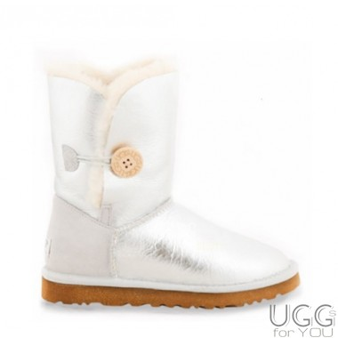 UGG Australia Bailey Button Metallic Silver