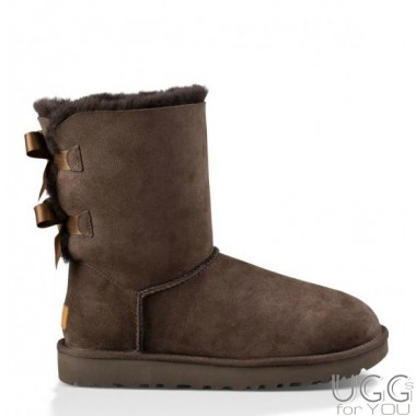 UGG Australia Bailey Bow Chocolate