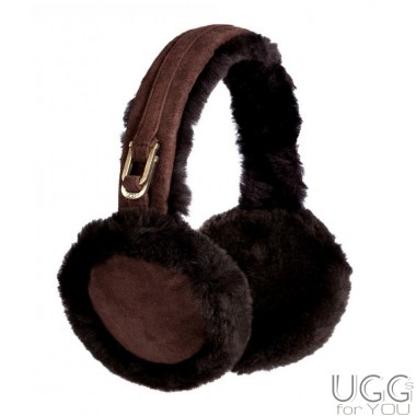 UGG Australia Double U Logo Earmuffs Chocolate