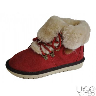It Is Fur Boots Red