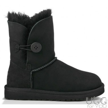 UGG Australia Kids Bailey Button Black