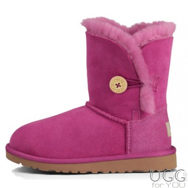 UGG Australia Kids Bailey Button Pink