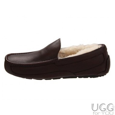 UGG Australia Ascot Slippers Leather Brown