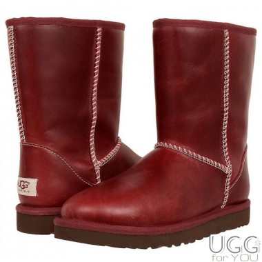 UGG Australia Classic Short Leather Red