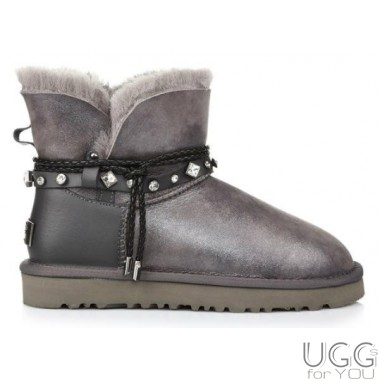 UGG Australia Mini Bailey Braid Grey