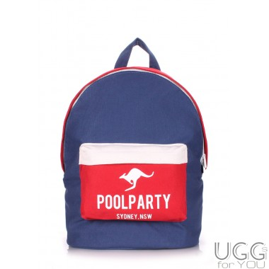 Рюкзак PoolParty Dark Blue Red White