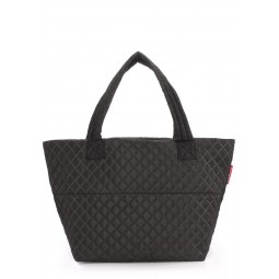 Стеганая сумка PoolParty Broadway Quilted Tote Full Black