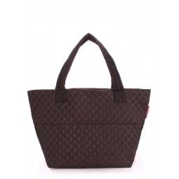Стеганая сумка PoolParty Broadway Quilted Tote Full Brown