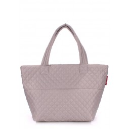 Стеганая сумка PoolParty Broadway Quilted Tote Full Grey